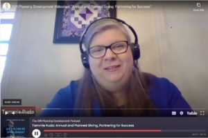 Tammie Ruda in screen grab from videocast